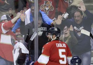 Ekblad scores in OT, Panthers beat Gallant, Golden Knights