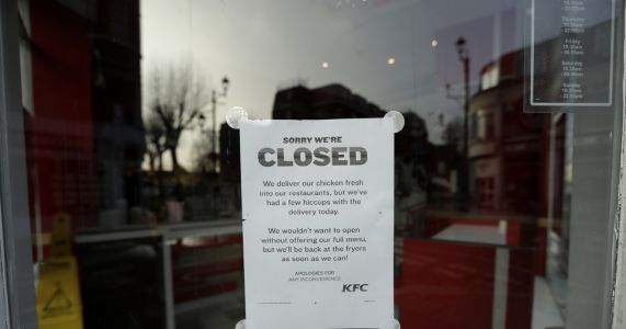 KFC scrambles its name as it issues a 3-letter apology for its U.K. chicken crisis