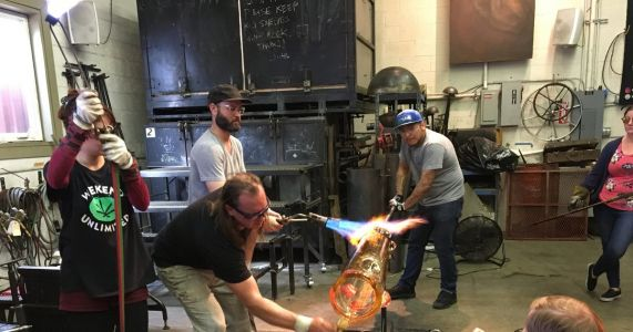 Happy 4/20: Glassblowers get ready to make world's largest bong in Seattle