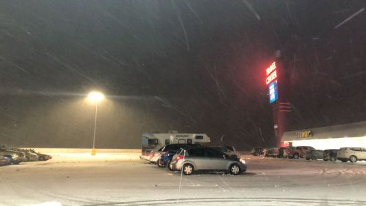 First big snow of the year for New Mexico causes problems for drivers