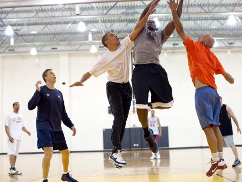 Obama and his friends were so competitive during their White House basketball games, he wound up in stitches