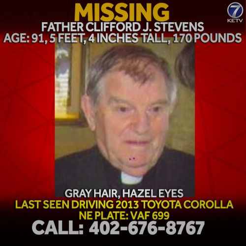 Boys Town police ask for help in locating priest with episodes of dementia