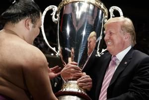 Trump watches sumo, but it's not just a sport in Japan