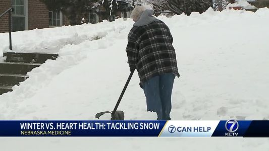 Monitoring heart health and potential risks that come with shoveling snow