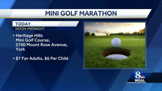 Mini-golf marathon raises money for abused children