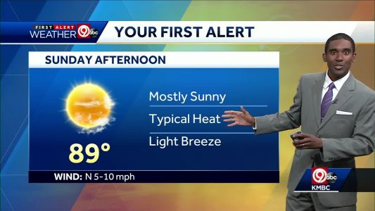 First Alert: Plenty of sunshine for your Sunday