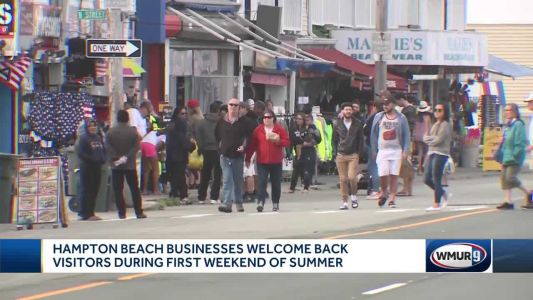 Hampton Beach businesses welcome back visitors in unofficial start to summer