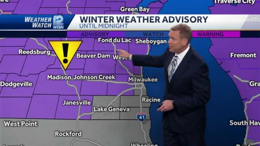 Videocast: Winter weather advisory in effect until midnight