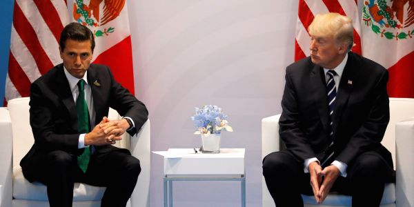 Mexico's president called off a White House visit after Trump refused to say publicly that Mexico won't pay for the border wall