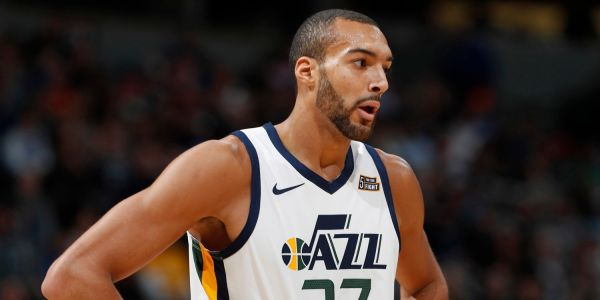 Jazz's Rudy Gobert gets whistled for a foul during the opening tip and gets ejected less than three minutes into the game