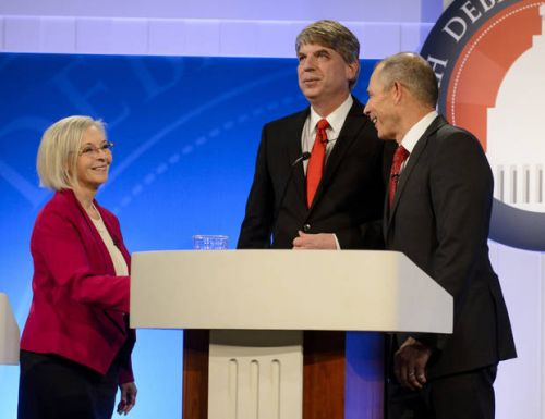 US House candidates debate guns, immigration, health care
