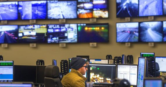 Check out WSDOT's Viadoom nerve center: 900 cameras, 112 TVs and 5 humans, helping to keep traffic moving
