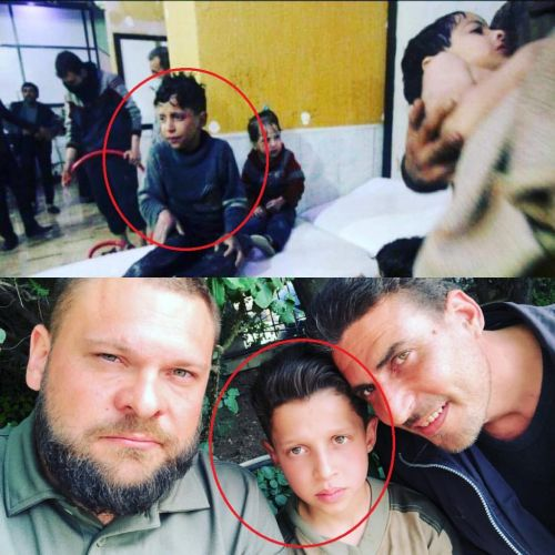 Russian Journalists Find Boy In White Helmets Chemical Attack Video