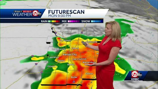 Kansas City in and out of rain, strong storms over next several days