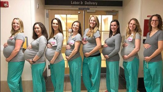 Baby boom! 9 nurses in New England hospital's labor unit expecting at same time