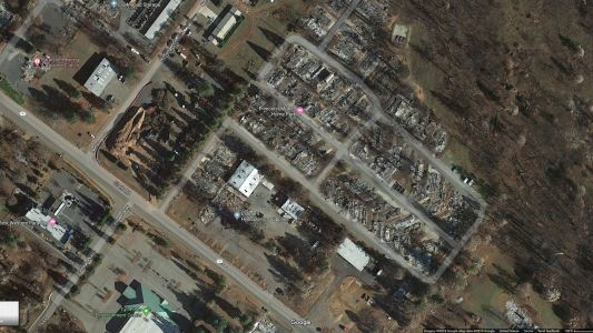 Updated satellite images show Paradise after Camp Fire