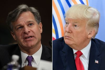 FBI nominee breaks with Trump on several fronts