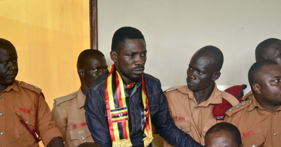 Heavy security, arrests as Ugandan pop star set to come home