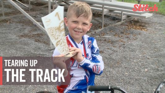 6-year-old BMX champion continues to tear up the track