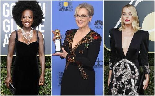 You can now bid on the black outfits celebrities wore to the Golden Globes - and the money will go to the same cause they did it for