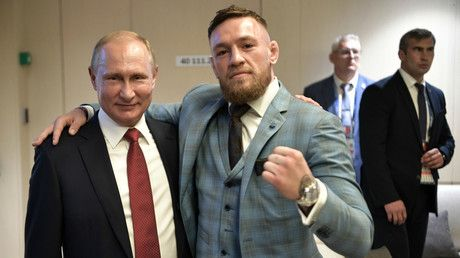 'Are you disrespecting Putin!?' - Conor goads Khabib over WC final pic with Russian President