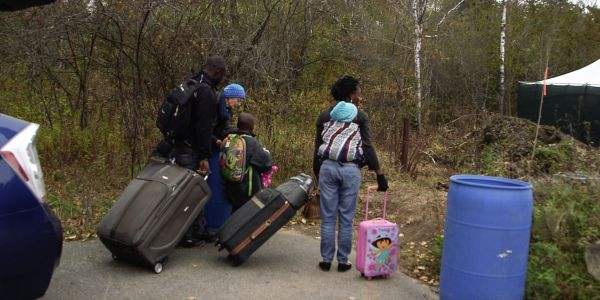 The difference between how the US and Canada treat people who cross the border illegally, trying to seek asylum