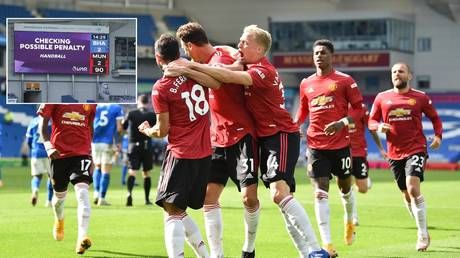 Craziest football finale EVER? Man Utd beat Brighton in thriller after scoring penalty AFTER referee had blown final whistle