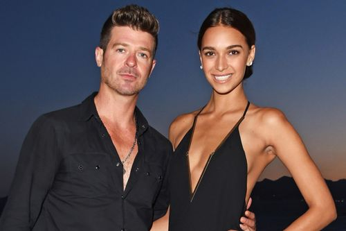 Robin Thicke and pregnant girlfriend will 'rebuild' after wildfires