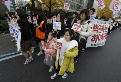 In remarkable shift, peace marks S. Korean uprising - so far