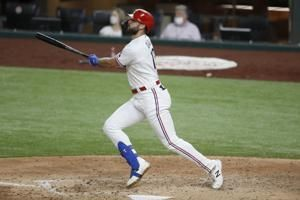 Gallo homers and Rangers use 6 pitchers to beat Angels 2-0