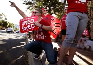 Photos: RedForEd anniversary rally downtown
