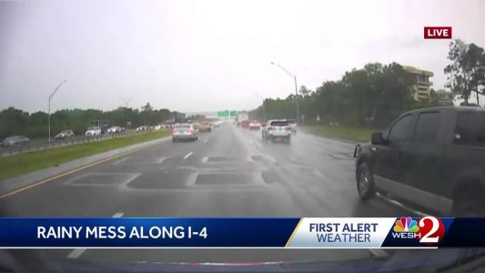 Rainy mess on I-4 causes problems for some drivers