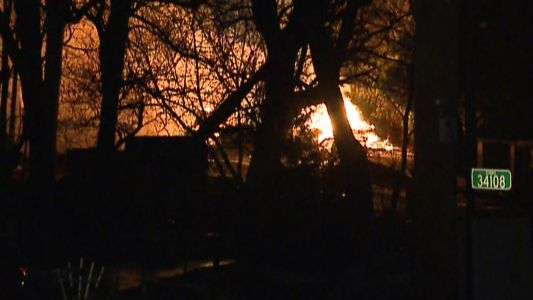 Flames rip through home in Delafield