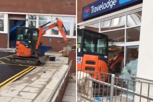 Pissed-off worker plows digger through Travelodge hotel lobby
