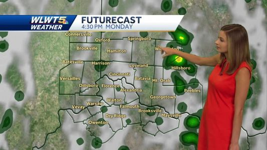 Another chance of rain Monday