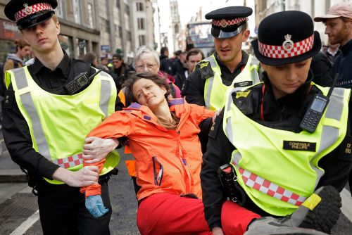 Climate activists block entrance to London Stock Exchange