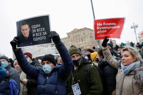 Russian police arrest over 350 protesters demanding release of Alexei Navalny