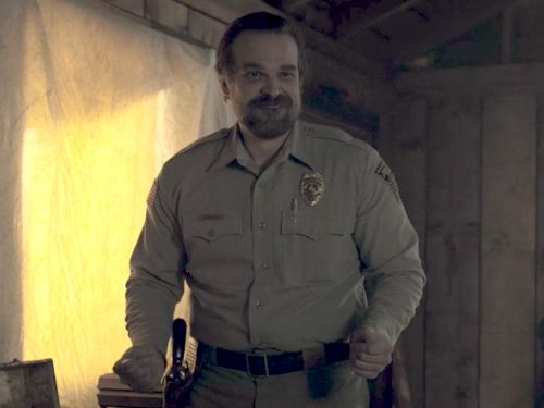'Stranger Things' star David Harbour is making an epic promise to officiate a fan's wedding - but he has some requests of his own