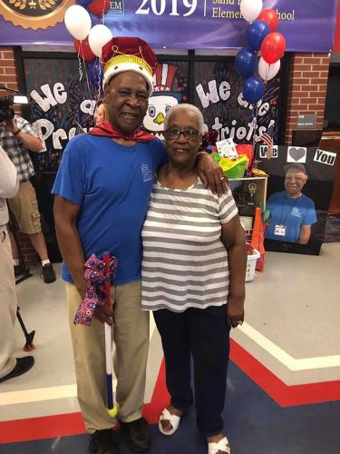 Elementary school students gave their 83-year-old custodian a retirement ceremony fit for a king
