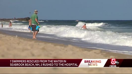 Swimmers rescued, rushed to hospital from Seabrook Beach