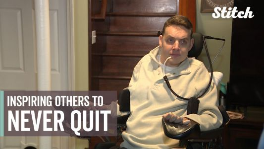 Former hockey player who was paralyzed during game inspires others to never quit