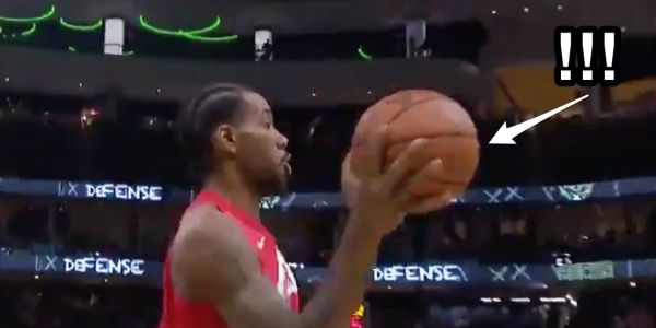 Kawhi Leonard's most impressive in a huge win against the Bucks was a subtle move that seemingly bent the laws of physics