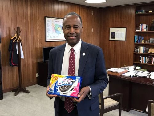 HUD Secretary Ben Carson sent a pack of Oreos to a lawmaker after he flubbed a question about REOs during a congressional hearing