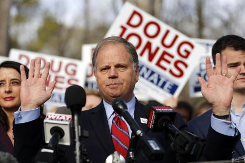 Democrat Doug Jones defeats Trump-backed Roy Moore for US Senate seat
