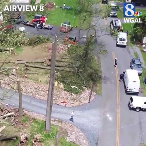 Weather service: Tornado that hit Lancaster County, Pennsylvania had maximum winds of 105 mph