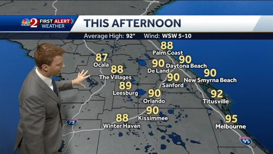 Muggy, widespread showers on Friday