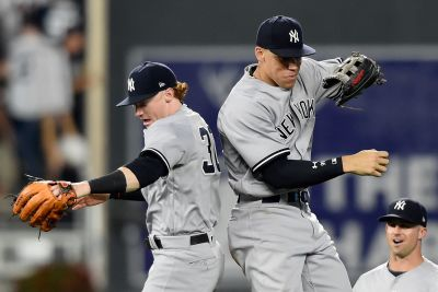 The sweet friendship forming in Yankees' rising-star outfield