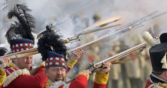 Enthusiasts re-enact bloody 19th-century Battle of Leipzig