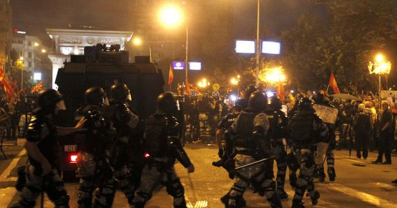 Macedonian police detain 25 after clashes in name protest