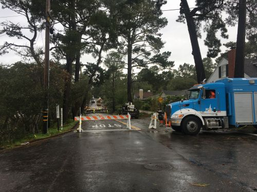 Strong storm downs trees, closes roads and knocks out power in Carmel